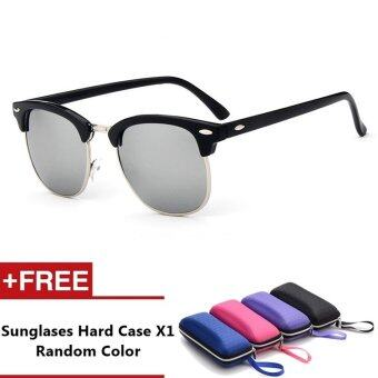 Orden Brand Unisex Retro Aluminum Sunglasses Polarized Lens VintageEyewear Accessories Sun Glasses For Men/Women (Black+White)