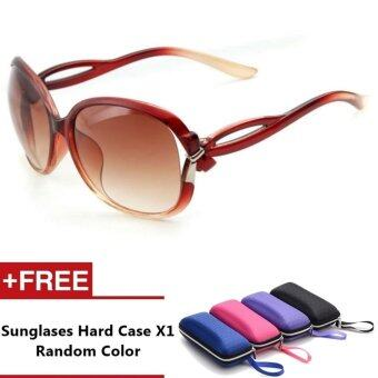 Praga Brand Unisex Retro Aluminum Sunglasses Polarized Lens VintageEyewear Accessories Sun Glasses For Women (Brown)