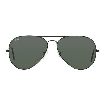 large aviator sunglasses  Ray-Ban Aviator Large Crystal Green Lenses RB3026 L2821 Black ...