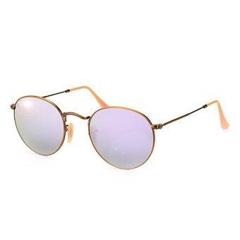 ray ban round sunglasses malaysia  ray ban rb3447 167/4k round metal sunglasses bronze copper