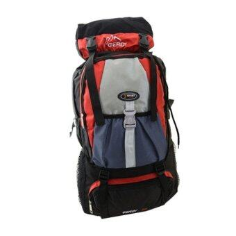 Sports Cam Camping Hiking Trekking 60L Backpack - Red