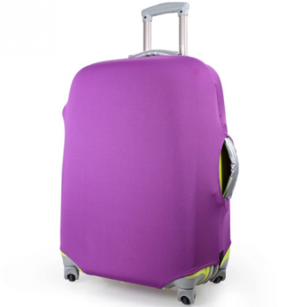 Stretchable Elastic Travel Luggage Suitcase Protective Cover - MSize (Purple)