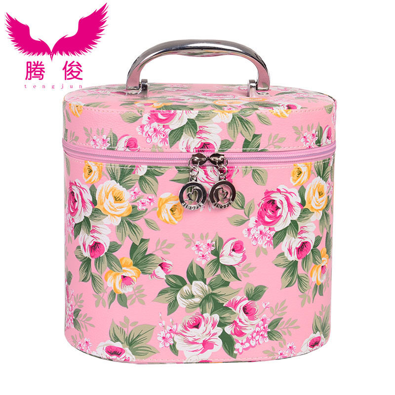Teng chun new drums printed cosmetic bag south korea large capacityportable cosmetic case travel storage wash bag - intl