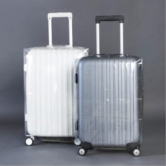 Travel Luggage Suitcase Protective Cover Anti Dust WaterproofTransparent PVC Luggage Cover (26 Inch)
