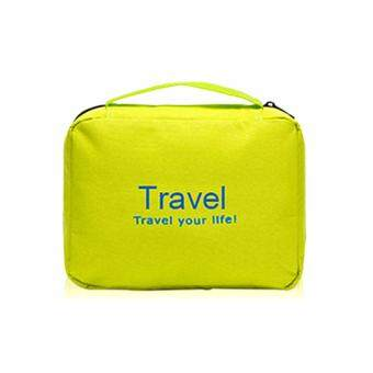 Travel Your Life Cosmetic Bag Travel Toiletries Makeup Pouch-apple green