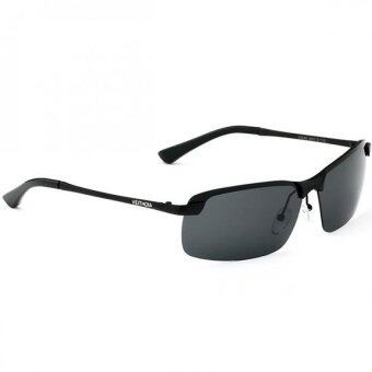 polarized black sunglasses  VEITHDIA 3043 Polarized Aviator Design Men Sunglasses- Black ...