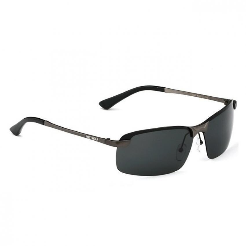 Dark Black Aviator Sunglasses  veithdia 3043 polarized aviator design men sunglasses dark grey