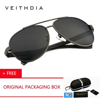 Polarised Sunglasses Driving  veithdia brand 2017 men brand design coating polarized sunglasses