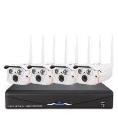 ANNKE CCTV 4CH wireless night vision video surveillance ip wifi camera system 4ch 720p NVR recorder kit+Free Shipping