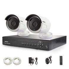 Annke New 4CH 720P HD POE NVR Security Camera with 2 Weatherproof 720P Indoor/Outdoor 100ft Night Vision IP Security Camera