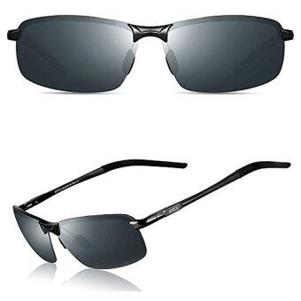 f3ce2243b49 ATTCL   Hot Ultralight Al Mg Frame Driving Polarized Sunglasses For Men  18143 Black