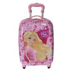 "Barbie Kids' Troley Luggage Square 16"" BU005 Pink"