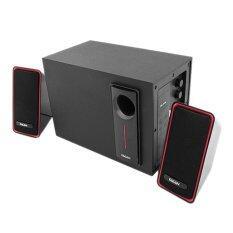 EACAN E-210A 2.1 Channel Multimedia Speaker Red Silver