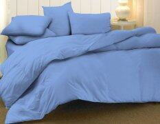 Essina 100% Cotton 620TC Fitted Bedsheet set with Quilt Cover Candies-Blue