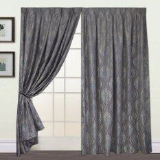 Essina French Pleated Curtain Jacquard 1Layer Sliding Door - Mucca