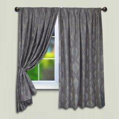 Essina French Pleated Curtain Jacquard Window Muccha - Window