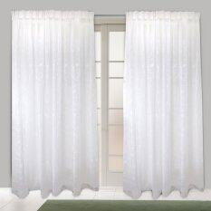 Essina French Pleated Sheer Window Curtain Saffron (White)