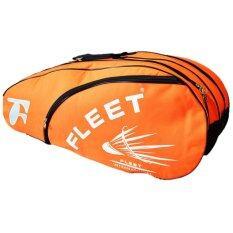 Fleet 2 Zips+ 1 Side Compartment Bag + Sling Strap FT018 Orange