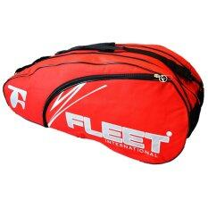 Fleet 2 Zips+ 1 Side Compartment Bag + Sling Strap FT018 Red