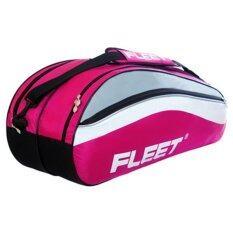 Fleet 2 Zips+Side+Shoe Compartment Bag FT302 Pink
