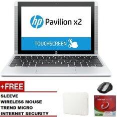 "HP PAVILION X2 10-N118TU NOTEBOOK (Z8300,2GB,32GB,W10,10"",WHITE) Free: Sleeve + Trend Micro Internet Security + Wireless Mouse"