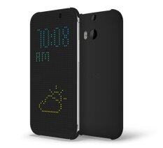 HTC One E8 Dot View Flip Case / Original - Black