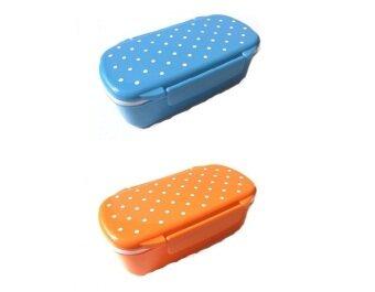 japanese microwavable single tier bento lunch box polka dot bundle 2 pcs blue orange lazada. Black Bedroom Furniture Sets. Home Design Ideas
