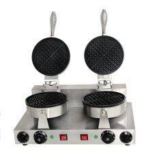 Jinbang JB-HF02 two pans electric teflon waffle machine (Silver)