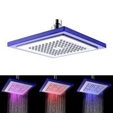 Large ABS Glow LED Square Shower Head 200*200mm Multicolor LED Blink