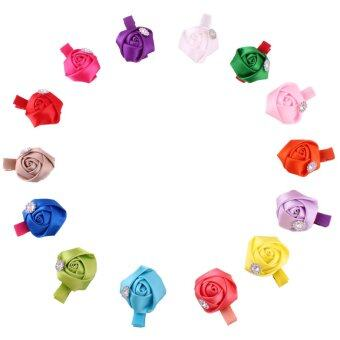 lff baby girls hair accessories 14 pieces rose bud