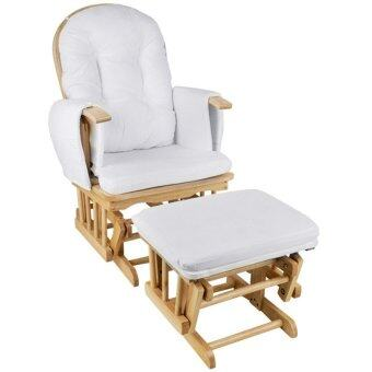 Mamakiddies Glider Rocking Breast Feeding Maternity Chair With Ottoman White