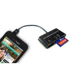 Micro USB SD Card Reader Combo Hub for OTG Smart Phone