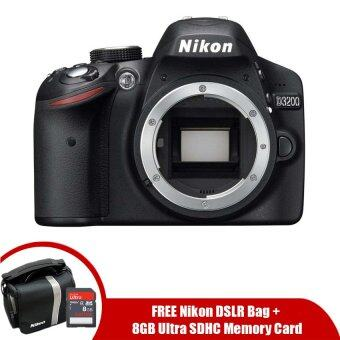 Nikon Digital SLR D3200 Body Only 24.2MP+ 8GB + DSLR Bag