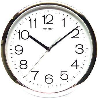 Seiko qxa014s japan quartz wall clock silver lazada for Seiko quartz wall clock