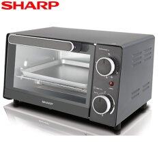 Sharp 9L Electric Oven Toaster EO9MTBK with Upper & Lower Quartz Heating Element
