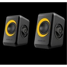 Sonic Gear Quatro 2 USB Powered 2.0 Speaker (Yellow)
