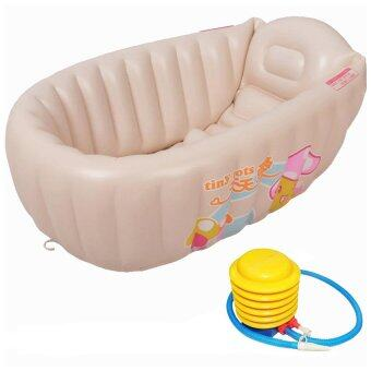 tiny tots baby bathtub inflatable pool bath tub large size free air pump cream lazada malaysia. Black Bedroom Furniture Sets. Home Design Ideas
