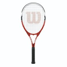 Wilson Federer Strung Tennis Racquet, 4 3/8-Inch, Red/White/Black