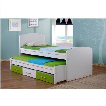 Xavier Single Kids Storage Bed Pull Out Guest Bed