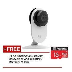 XiaoMi Xiao Yi IP Camera HD Wifi CCTV (Night Version) & REMAX Class 10 Micro SDHC 80MB/s 16GB