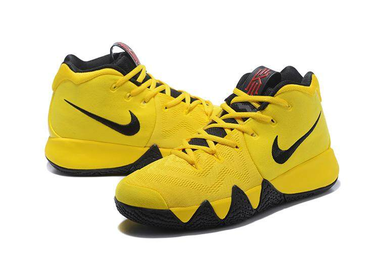new arrival 71919 2dbd5 Nike_Authentic Official Kyrie Irving 4 Yellow Black Sport MEN Basketaball  Shoe