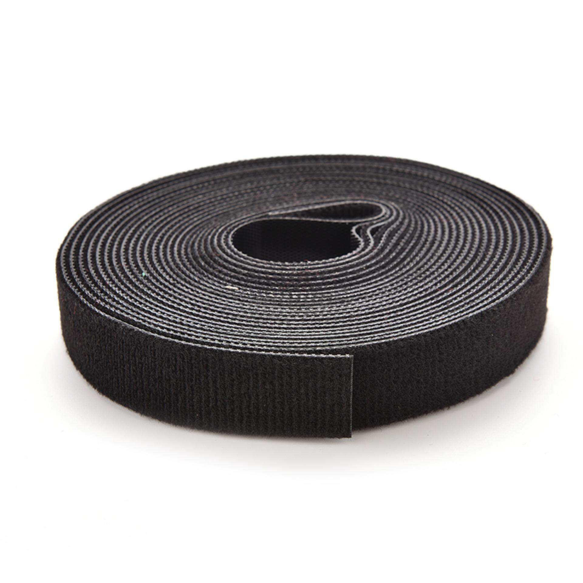 5 Yards Self Attaching Velcro Hook & Loop Tape Fastener 1 Roll 500cm Black