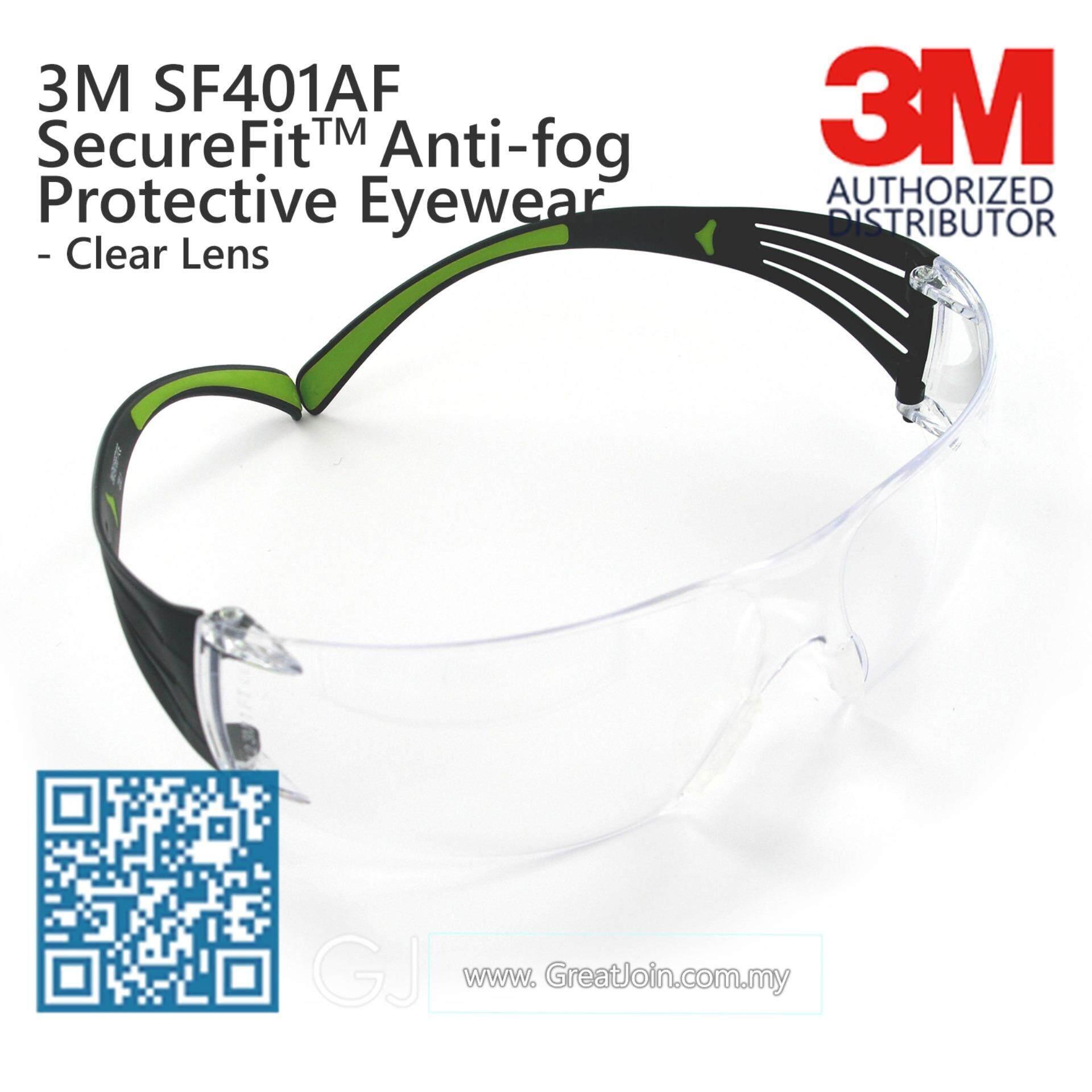 7fd7862cf73 3M SF401AF SecureFit Lightest Safety Eyewear  Safety Glasses Anti Fog   Clear Lens  Black