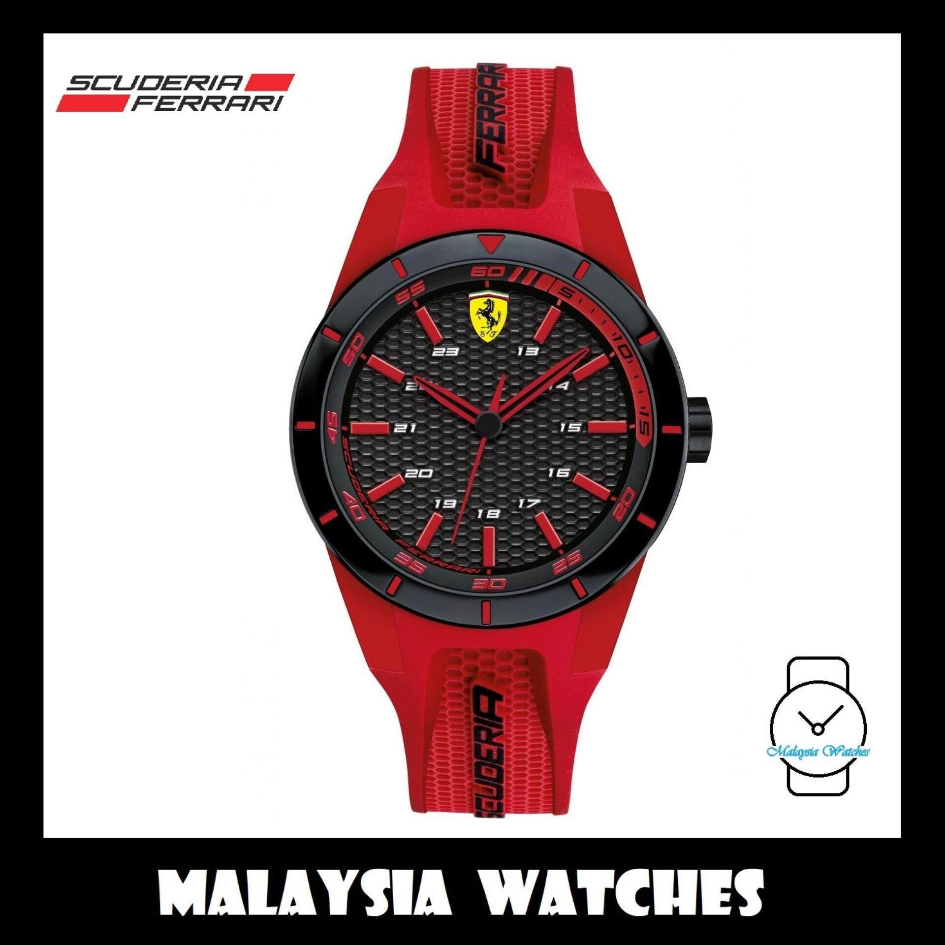 (100% Original) Scuderia Ferrari Men s 0840005 Redrev Watch (Red) 760999f541