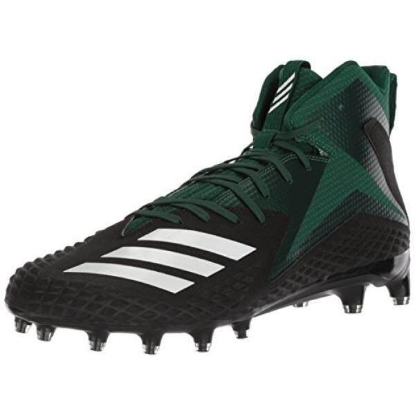 new style dada5 4106d adidas Mens Freak X Carbon Mid Football Shoe, Core Black White Dark Green