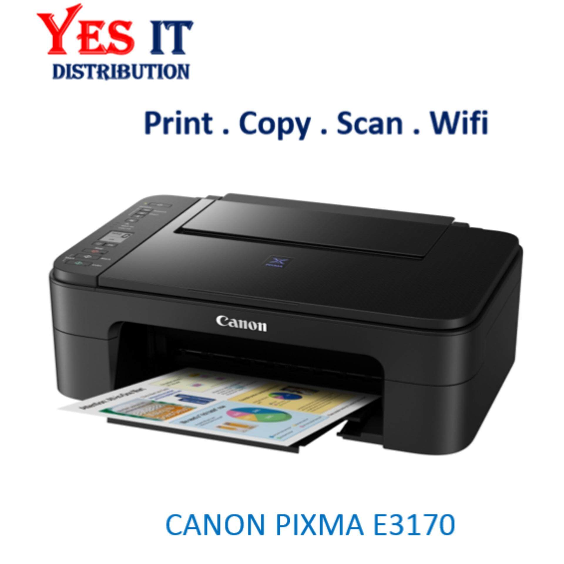 Canon Printers Malaysia Print Head G1000 G2000 G3000 Color Original Pixma Ink Efficient E3170 Stylish Wireless All In One Printer