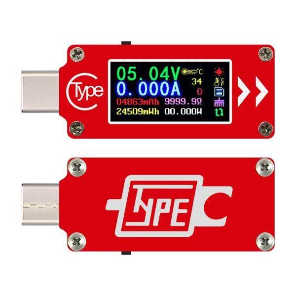 TC64 Type-C Color LCD Display USB Voltmeter Ammeter Voltage Current Meter Multimeter Battery PD USB Tester