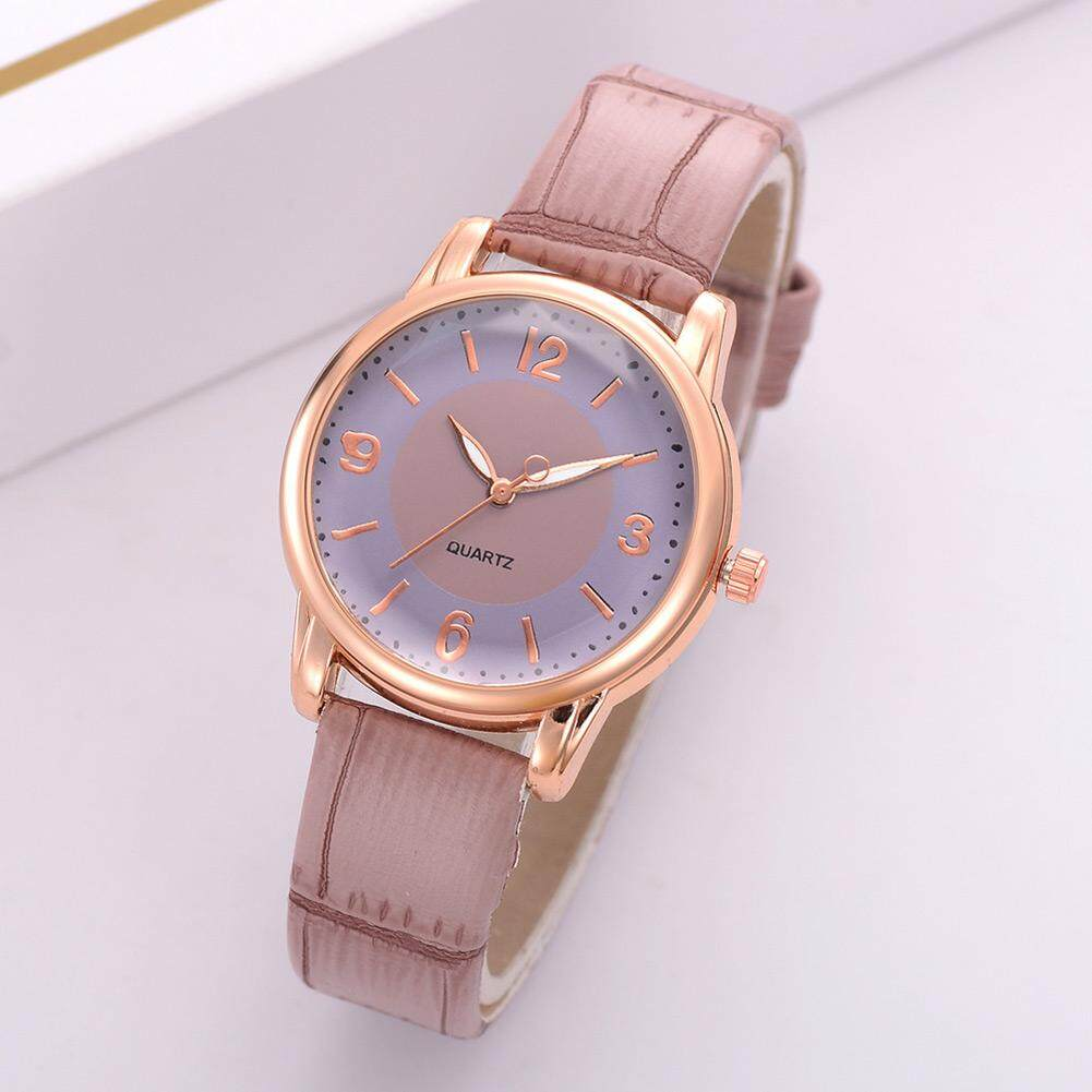 La vis Women Classic Quartz Elegant Wrist Watch with PU Leather Strap Simple Casual Watches Malaysia