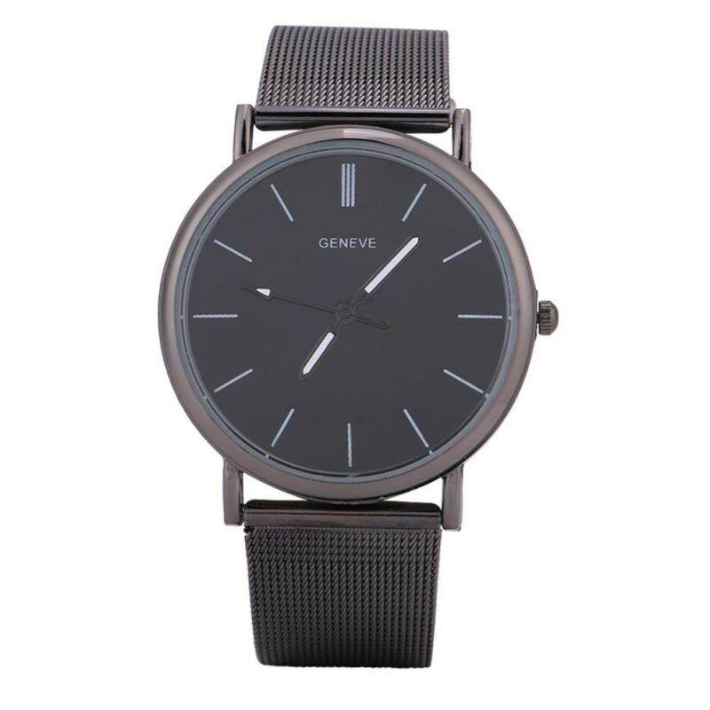 2 Sizes Stylish Female Male Watch Quartz Wristwatch Analog Alloy Strap Wrist Watch Malaysia