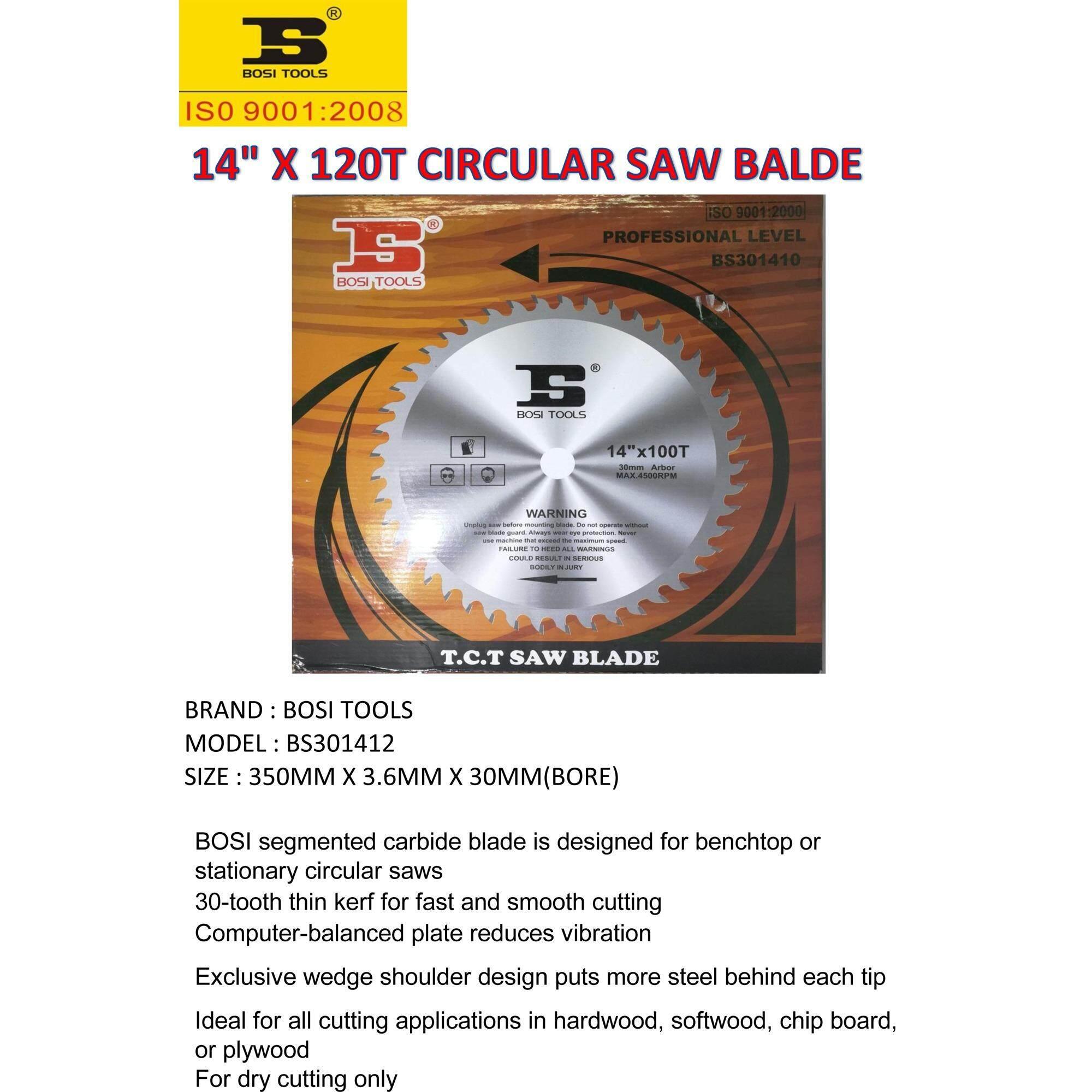 14 X 120T CIRCULAR TCT SAW BLADE ( FOR WOOD CUTTING )
